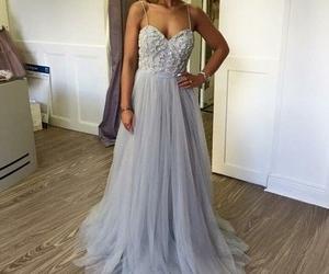 prom dress, dress, and long prom dresses image