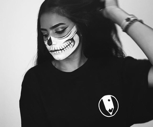 Halloween, brunette, and makeup image