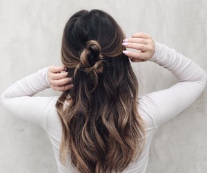 brunette, pink, and chic image