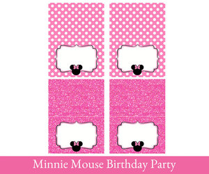 etsy, party printable, and minnie mouse image