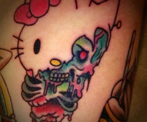 hello kitty, hello kitty tattoo, and tattoo image