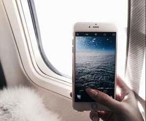 iphone, travel, and sky image
