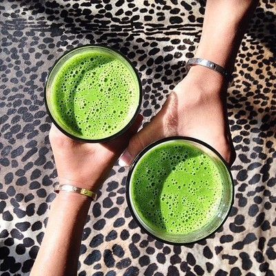 green, healthy, and drink image