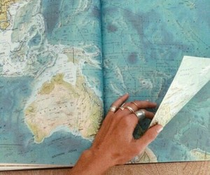 travel, adventure, and map image