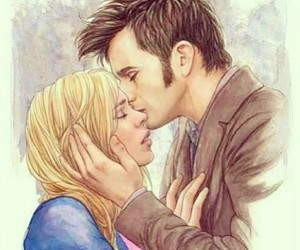 doctor who, love, and rose tyler image