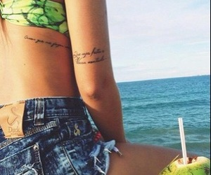 tattoo, summer, and girl image