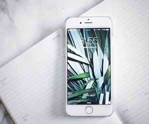 iphone, white, and phone image