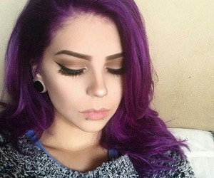 cool, dyed hair, and home image
