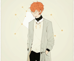 mystic messenger, 707, and anime boy image