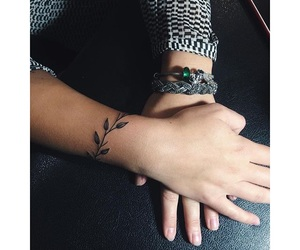 floral, tattoo, and wrist image