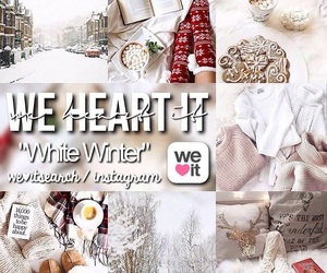 white, winter, and white winter image