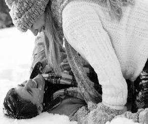 beautiful, couple, and kiss image