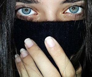 eyes, blue eyes, and girl image