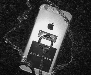 black, chain, and iphone case image