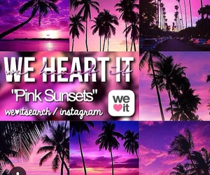 pink, sunsets, and pink sunsets image