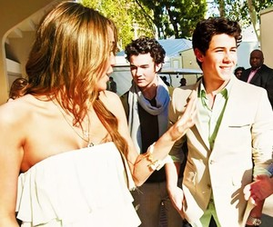 miley cyrus, nick jonas, and niley forever image