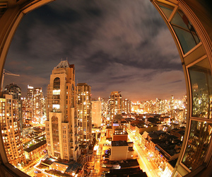 city, vancouver, and lights image