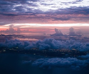 sky, clouds, and city image