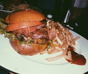 bacon, burger, and give image