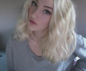 blonde, cosmetics, and fashion image