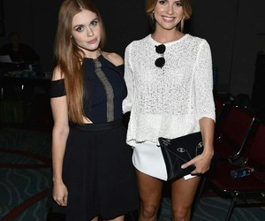 holland roden, shelley hennig, and teen wolf image