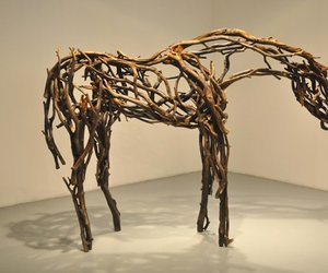 artist, horse, and wood image