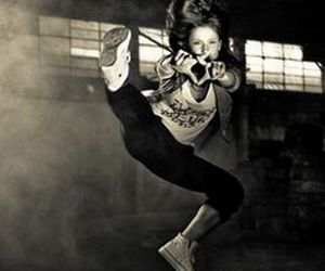dance, hip hop, and black and white image