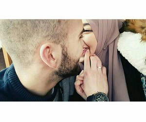 hijab, marriage, and love image