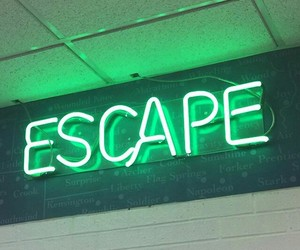 escape, green, and neon image