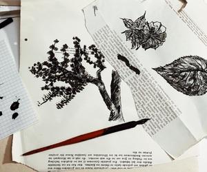 art, flower, and black image