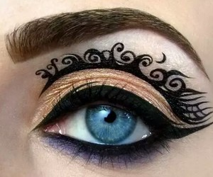 eye, makeup, and make up image