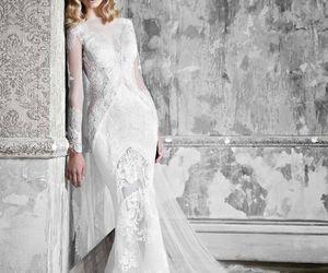fashion, wedding dress, and long sleeve image