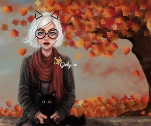 girly_m, autumn, and art image