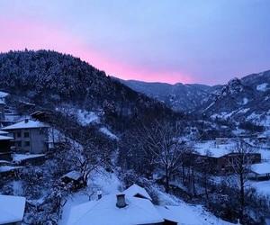 bulgaria, winter, and sunset image