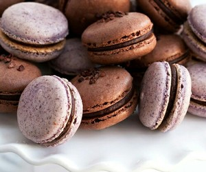 beautiful, chocolate, and macaron image