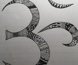 doodle, drawing, and hinduism image