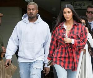 kanye west, keeping up with the kardashians, and kim kardashian image