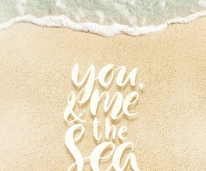 beach, iphone, and quotes image