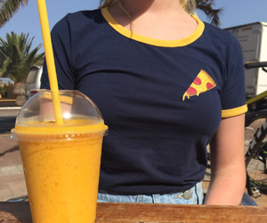 yellow, pizza, and tumblr image