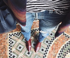 architect, high heels, and jeans image