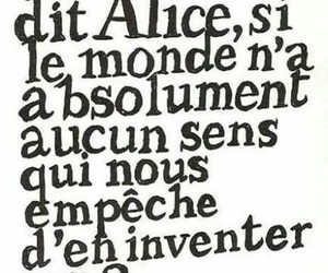 alice, quotes, and monde image