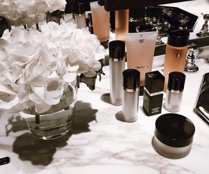 makeup, flowers, and tom ford image