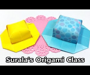 video, origami hat, and origami tutorial image