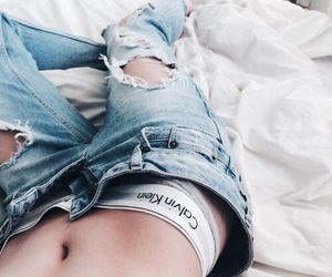 aesthetic, blue jeans, and fashion image