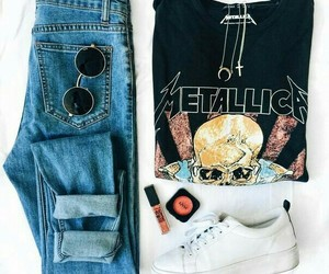 style, fashion, and metallica image