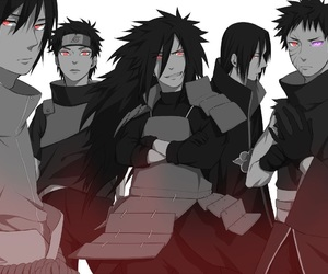 uchiha, naruto, and anime image