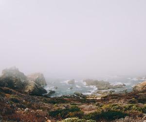 sea, nature, and fog image