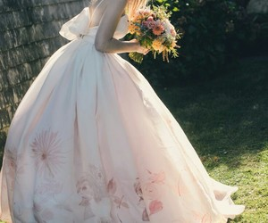 beautiful, dress, and flowers image