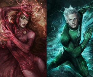 quicksilver, scarlet witch, and Marvel image
