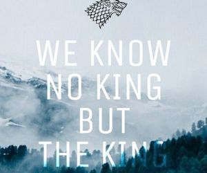 game of thrones, stark, and king image